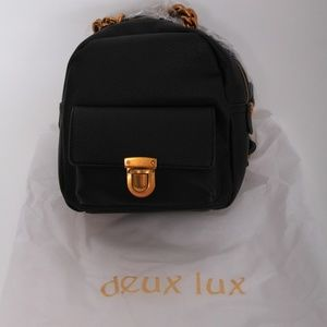 Roma Chain Mini Backpack Deux Lux